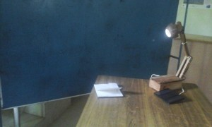 Solar reading light made of waste wood and coconut
