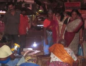Solar lantern at market