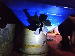 Propeller with motor fitted